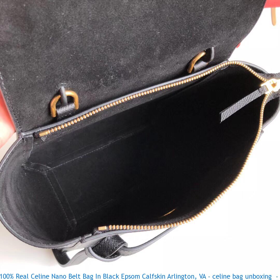 100% Real Celine Nano Belt Bag In Black Epsom Calfskin Arlington c1bfed4ba93b2