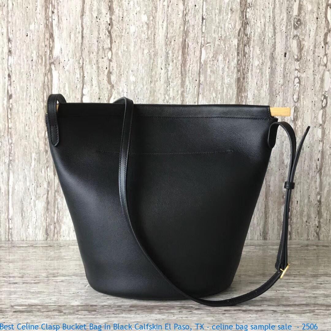 Best Celine Clasp Bucket Bag In Black Calfskin El Paso ... f686d74d38cad