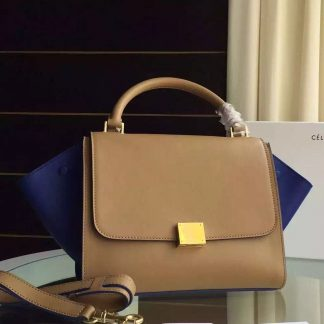 ... Best Cheap Celine Bicolor Trapeze Bag In Apricot Blue Calfskin  Birmingham, AL - celine handbags us - 851 ... d0472be987