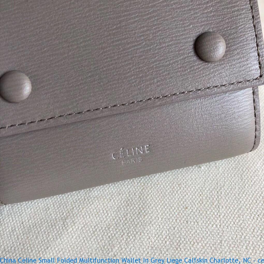 c51f353c1da2 China Celine Small Folded Multifunction Wallet In Grey Liege Calfskin ...
