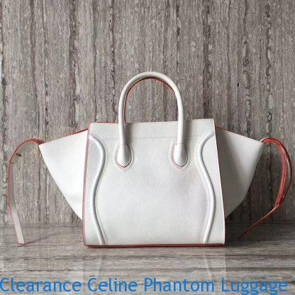 322c2420d35a6 Clearance Celine Phantom Luggage Tote In White Grained Leather San ...