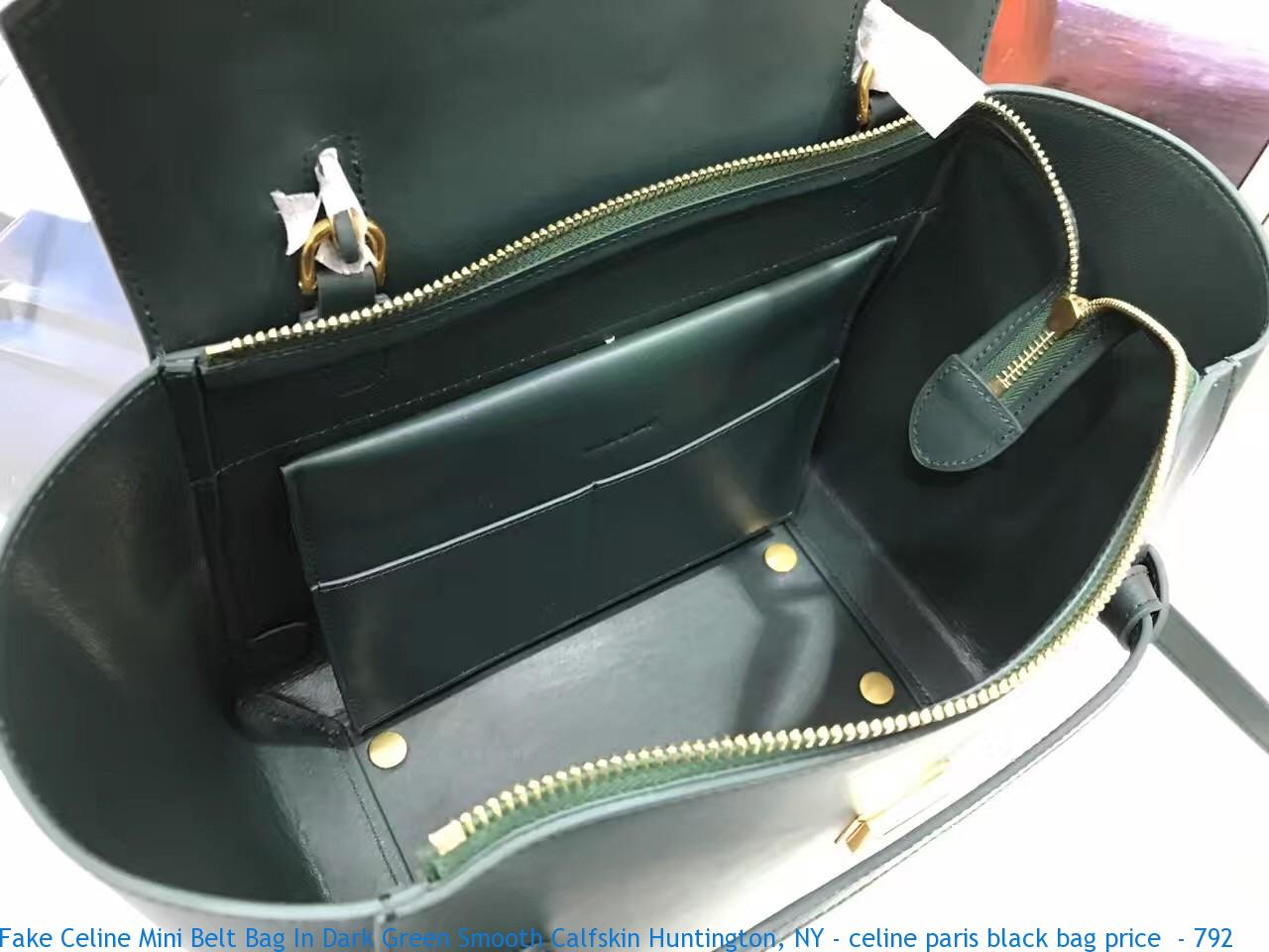 Fake Celine Mini Belt Bag In Dark Green