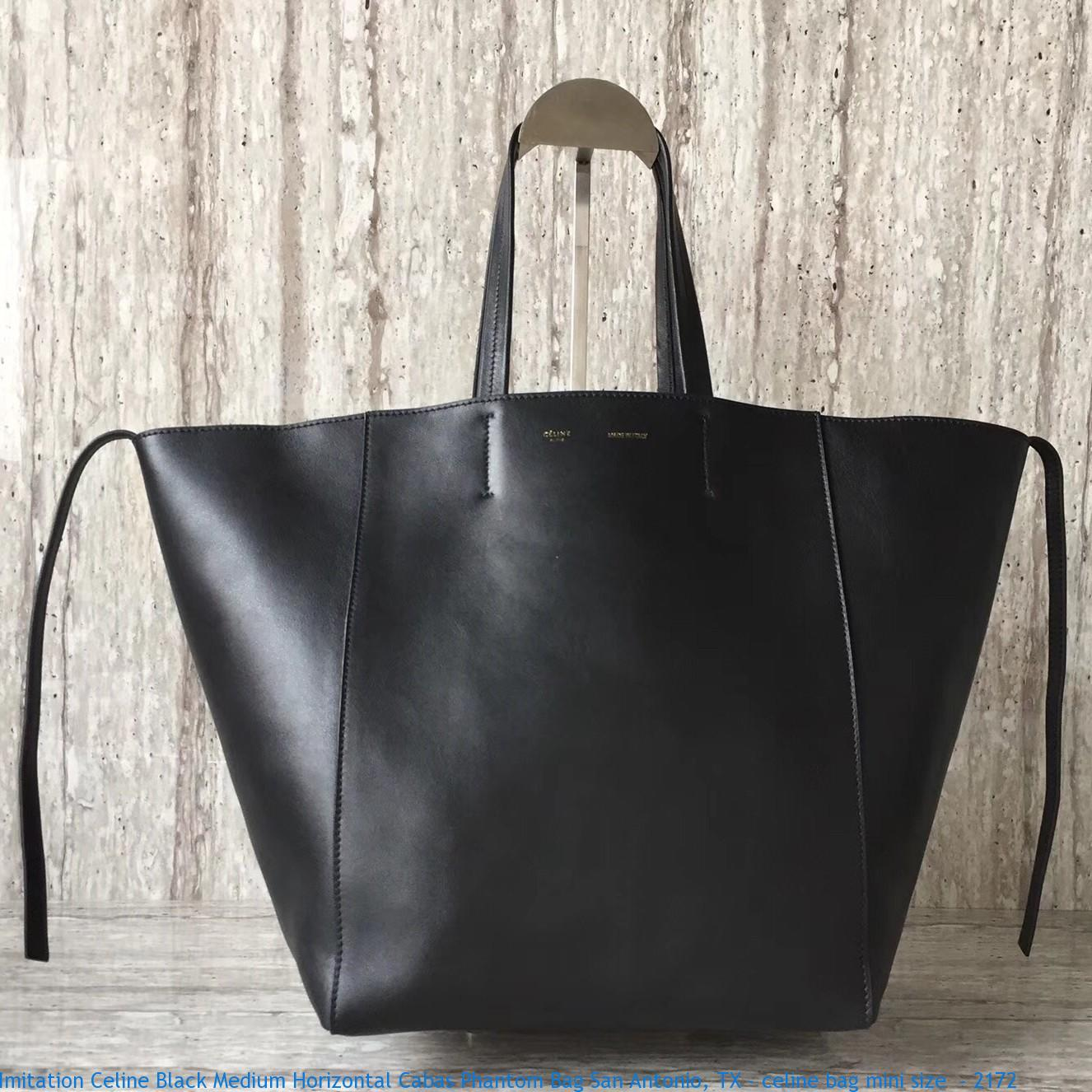 44fa490a256c Imitation Celine Black Medium Horizontal Cabas Phantom Bag San ...