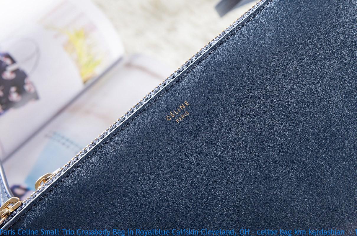 2d48331157a2 Paris Celine Small Trio Crossbody Bag In Royalblue Calfskin ...