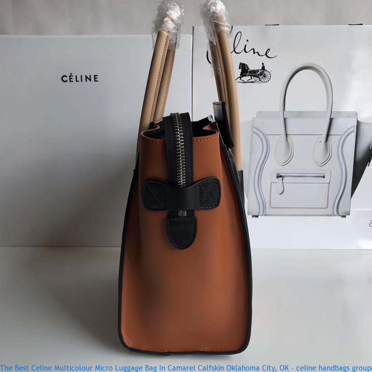 0ee6cc6243b4 The Best Celine Multicolour Micro Luggage Bag In Camarel Calfskin ...
