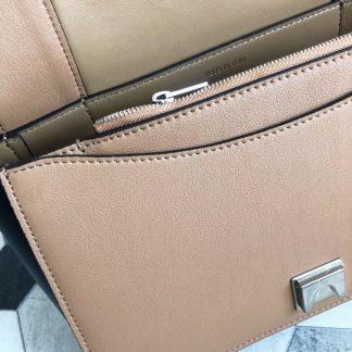 The Best Deals Celine Medium Frame Shoulder Bag In Camel Navy Leather  Austin c3508d0927cec
