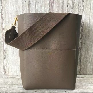 966d94b7060c ... The Best Deals Celine Sangle Seau Shoulder Bag In Etoupe Grained  Calfskin Milwaukee