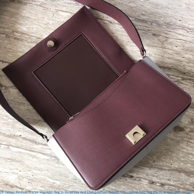 cb241bfb0a66 UK Celine Medium Frame Shoulder Bag In Bordeaux And Lilas Leather ...