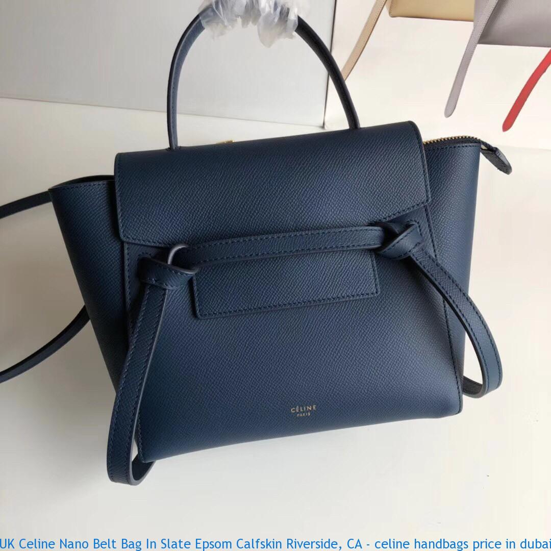 Uk Celine Nano Belt Bag In Slate Epsom